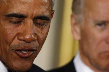 گریه اوباما درامد +عکس