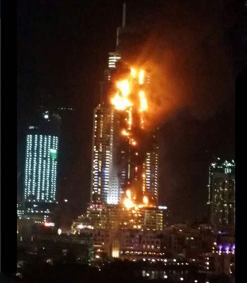 نجات معجزه وار فرهاد مجیدی از آتش سوزی هتل در دوبی + عکس