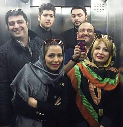 سلفی جدید مهران غفوریان و همسرش در کنار نیوشا ضیغمی