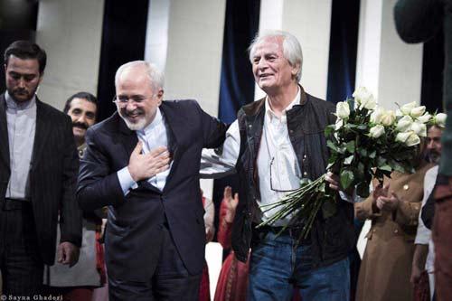 جواد ظریف و همسرش در جشن تولد رفیعی +عکس
