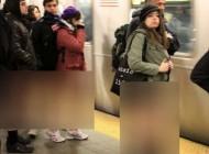 تیپ جالب مردم نیویورک در روز بدون شلوار 2016 +عکس