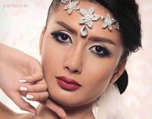 جدیدترین مدل آرایش صورت و تاج وشینیون عروس 2017