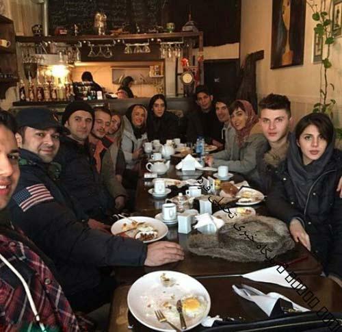 دورهمی بازیگران در کافه زوج بازیگر +عکس