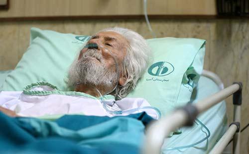 آخرین وضعیت شاعر معروف بستری در بیمارستان +عکس