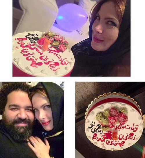 مراسم جشن تولد همسر زیبای رضا صادقی +عکس