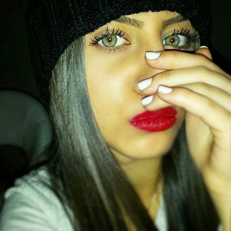 خوشگل ترین دختر اینستاگرام با چشمان رنگی جذاب + عکس