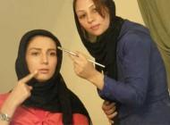 عکسهای دیدنی برخی بازیگران زن ایرانی در حال گریم کردن