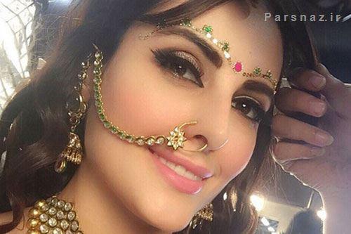 عکسهای دختر زیبای ایرانی که در هند بازیگری و مدلینگ میکند