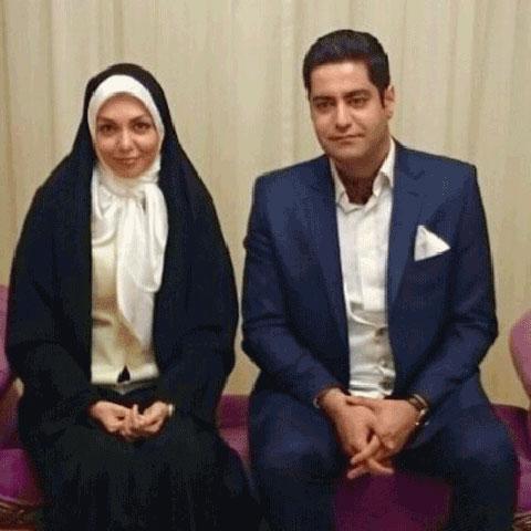 اولین عکس دو نفره آزاده نامداری و همسرش سجاد عبادی