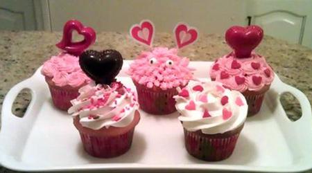مدلهای جذاب تزئین کاپ کیک مخصوص روز ولنتاین