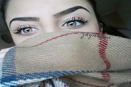 خوشگل ترین دختر اینستاگرام با چشمان رنگی جذاب