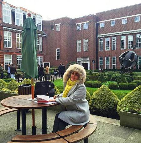 جدیدترین عکس الناز شاکردوست در دانشگاه لندن