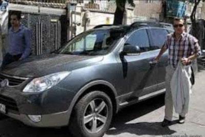 تصادف شدید حمید استیلی با خودرو خانمش +عکس
