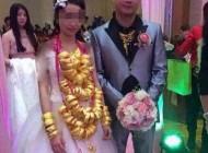 عروسی که سرتاپا طلا به خانه بخت رفت + عکس