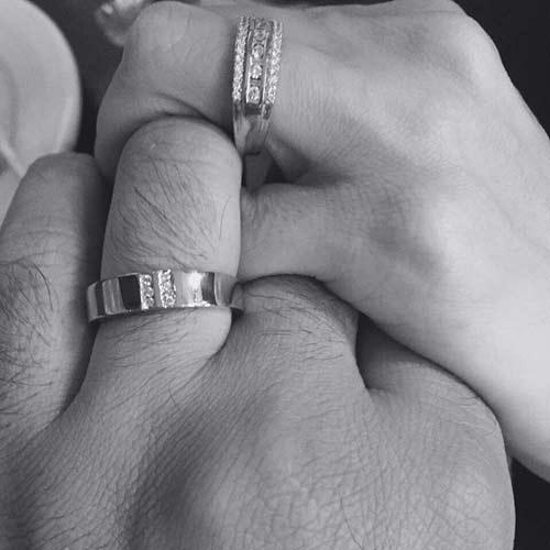 عروسی آزاده نامداری در دی 94 و عکس حلقه های ازدواجشان