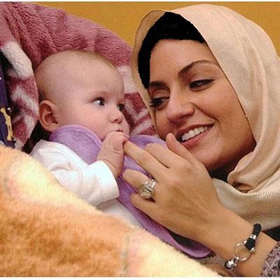 عکس زیبا و جدید مهناز افشار و دختر نازش