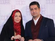 عکس سلفی عاشقانه آزاده نامداری و همسرش در بین بازیگران