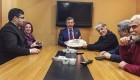 ملاقات بازیگران ایرانی با فضانورد روسی و همسرش+عکس