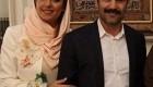 اولین عکس ها از مراسم عقد محسن تنابنده و همسرش روشنک
