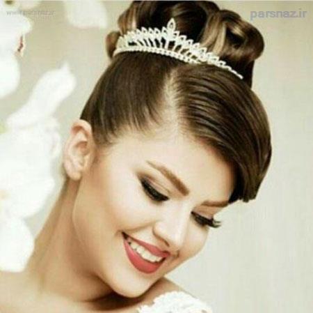 زیباترین مدل آرایش صورت و شینیون عروس 2016