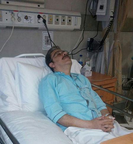 گوینده اخبار تلویزیون ایران دچار سکته شد +عکس
