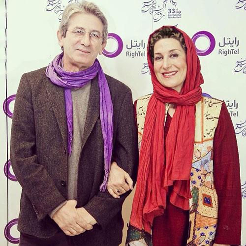 گریه فاطمه معتمد آریا در جشنواره فیلم فجر بخاطر همسرش