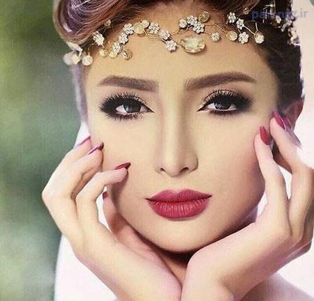 زیباترین مدل آرایش صورت و شینیون عروس 2017