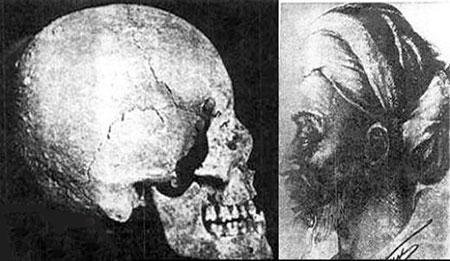 نبش قبر بوعلی سینا و نمایش جمجمه ابوعلی سینا  عکس