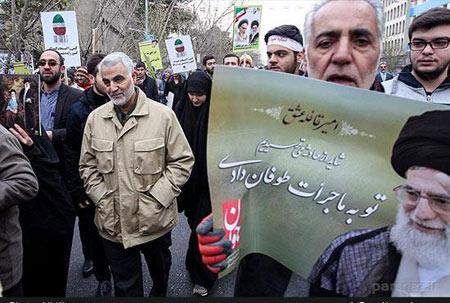 تصاویر دیدنی شخصیت های مهم در راهپيمايي 22 بهمن