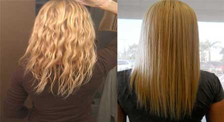 روش صاف کردن موی وز در خانه با مواد طبیعی +فیلم و عکس
