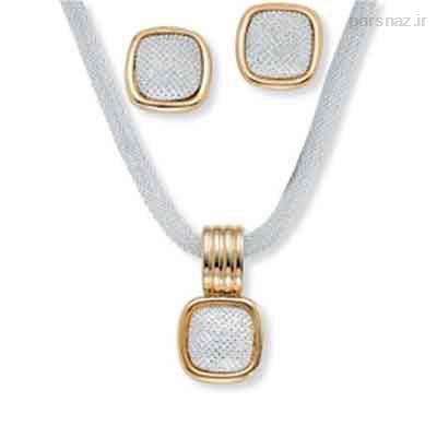 زیباترین نیم ست های طلا و جواهر جدید 2016