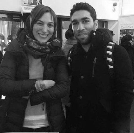 عکس یادگاری فلامک جنیدی در کنار هنرجوی مسابقه استیج من و تو