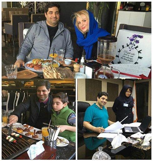 حال و روز شهرام جزایری در کنار همسر و فرزندش + عکس