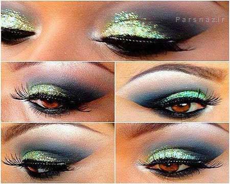 جدیدترین مدل های آرایش چشم به رنگ سبز