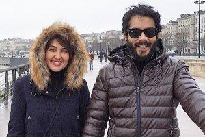 متن عاشقانه بازیگر مرد ایرانی برای همسر خارجیش گلوریا +عکس