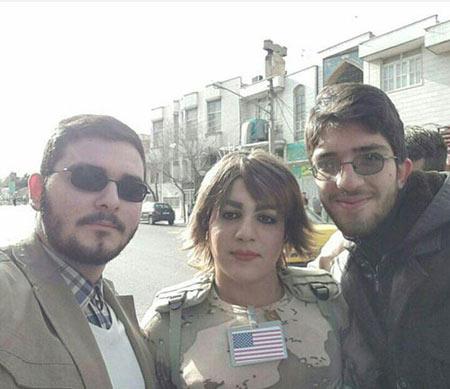 چهره تفنگدار زن آمریکایی در قم پس از دستگیری + 4 عکس
