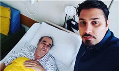 بستری شدن خواجه امیری در بیمارستان برای عمل جراحی+عکس