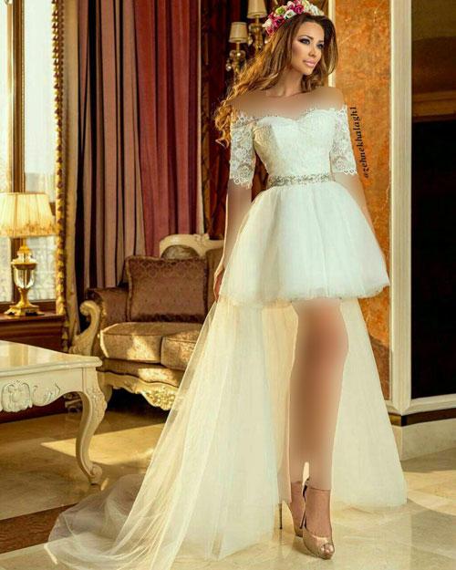 عکس مدل لباس عروس چاق