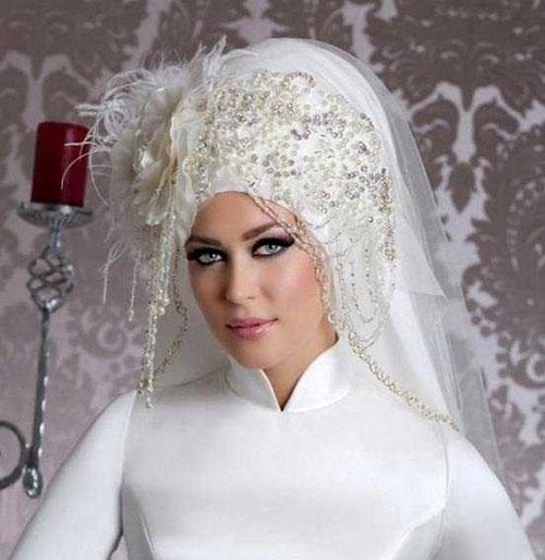 زیباترین مدل تاج و تور عروس محجبه 2016