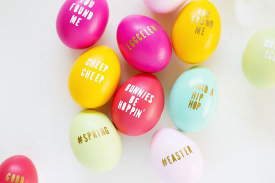 تزیین مدل تخم مرغ رنگی سفره هفت سین