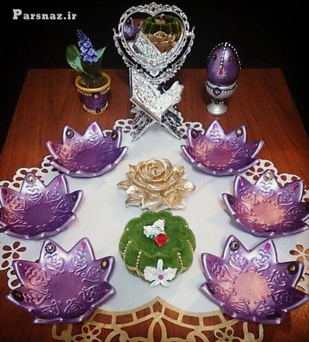 تصاویر جالب تزیین ظروف هفت سین نوروز