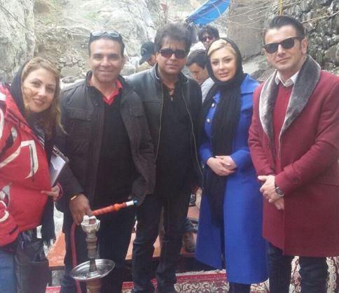 2 عکس جدید نیوشا ضیغمی در کنار 2 بازیگر دیگر در دربند