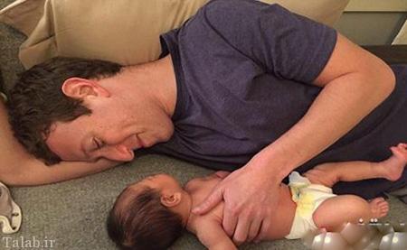 مدیر فیسبوک و دخترش در استخر (عکس)