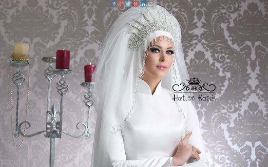 عکس هایی از مدل تاج و تور عروس محجبه