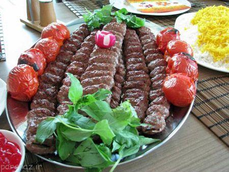 تصاویری خوشمزه از تزیین زیبای کباب