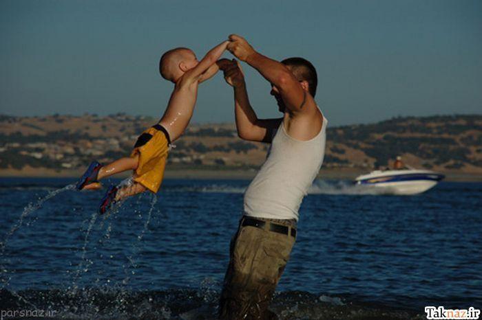 عکس های عاطفی و زیبا از احساس پدر و فرزند