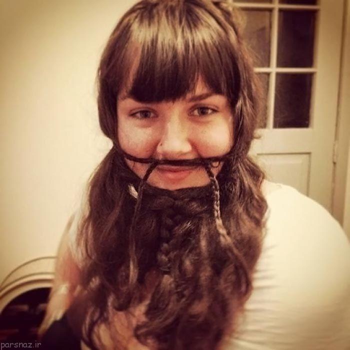عکسهای خنده دار از خلاقیت دختران و بافتن موهایشان