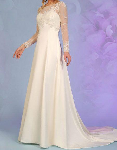 مدل های زیبای لباس آستین دار عروس 2016