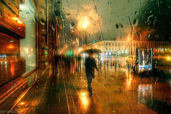 عکس های دیدنی از خیابان های خیس بارانی