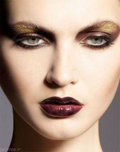 مدل های جدید آرایش رژ لب تیره